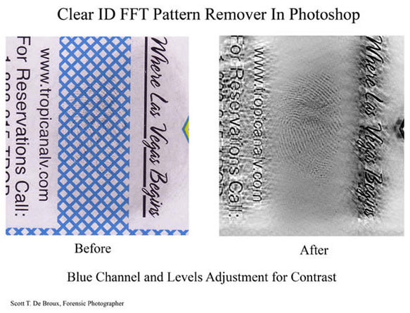 Clarifying latent prints