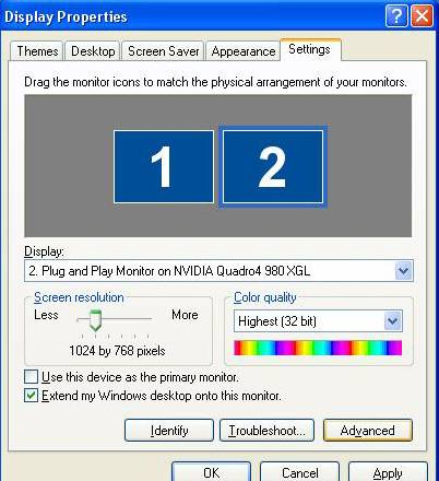 how to run dual monitors with 2 cards