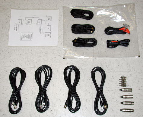 What Cables, Adaptors, Wiring Diagrams, Driver Discs and Addtional on